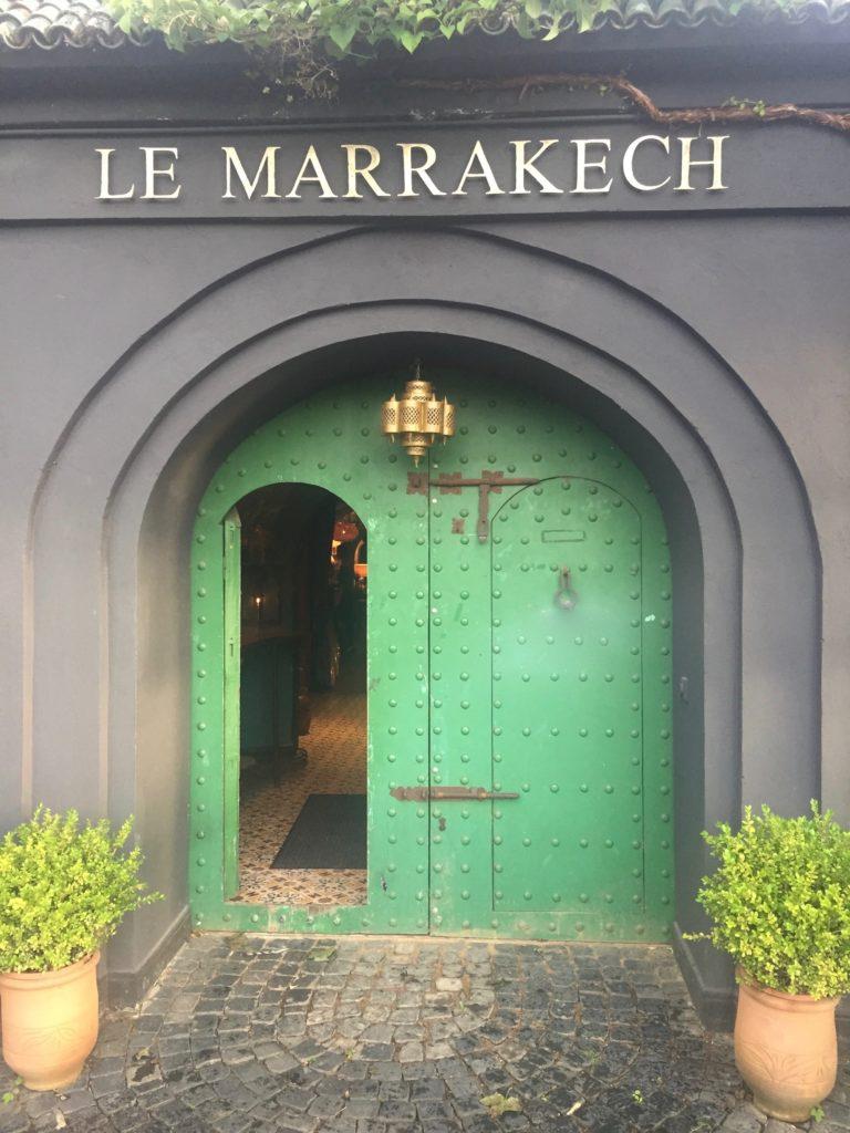 Marokkofeeling - Restauranteingang Le Marrakech Hamburg