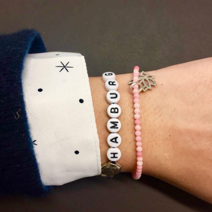 Name it! Hamburg bracelet on Theresa by quatre flwurs