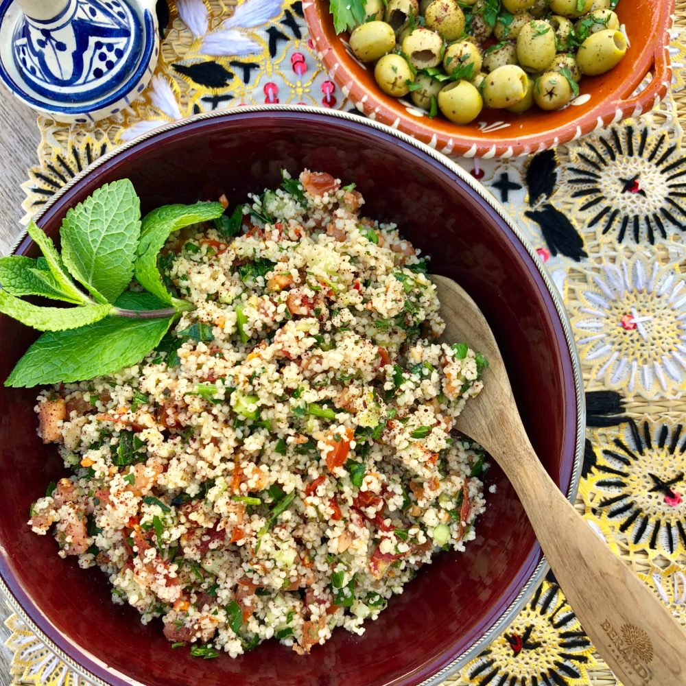 Tabbouleh & Olives ~ fresh and healthy! Focus on Tabbouleh