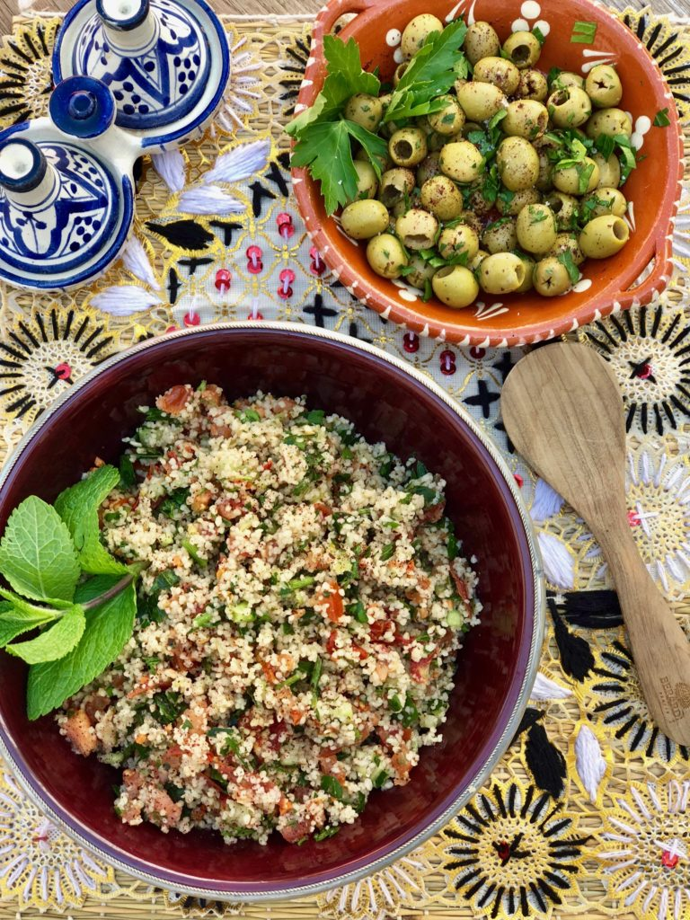 Tabbouleh & Olives ~ fresh and healthy! Mood