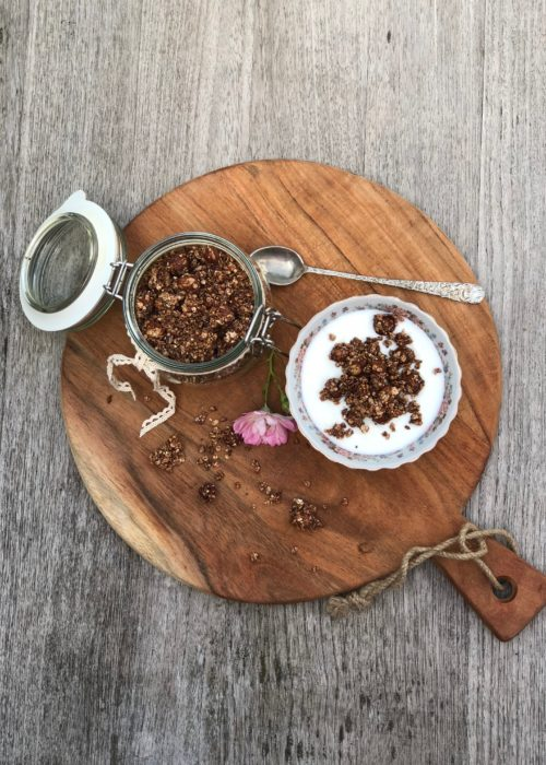 Homemade Granola ~ the easy way! flat lay