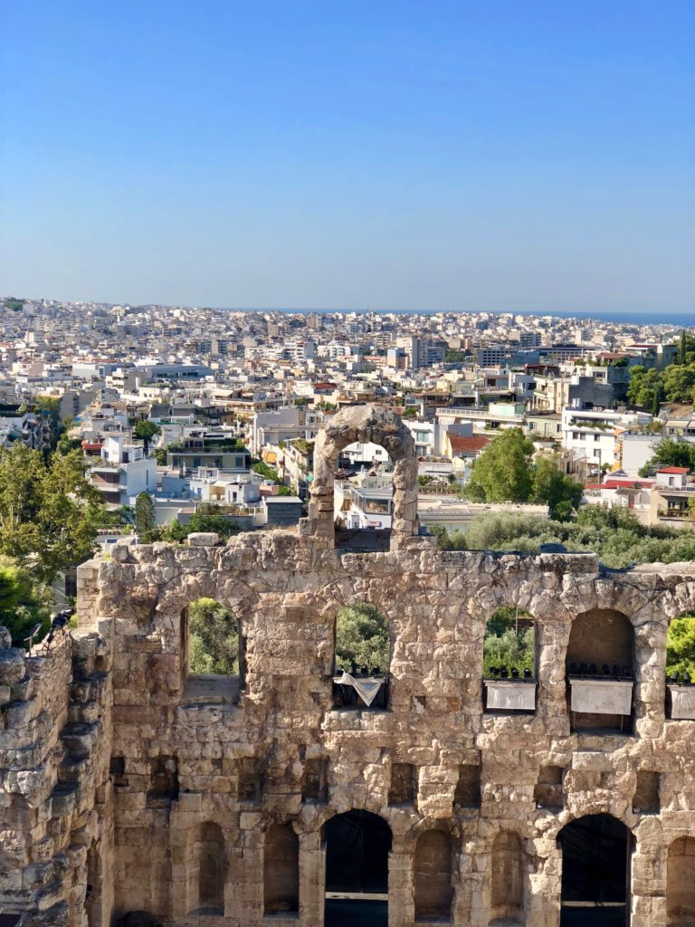 Athens ~ 3 days full of amazement! view from Akropolis above the herodes Atticus Odeion