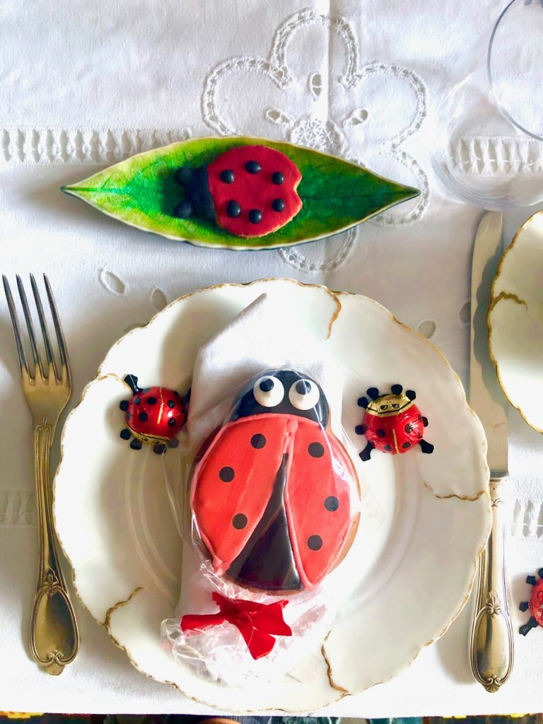 Ladybug-make-a-wish...table decoration placeset