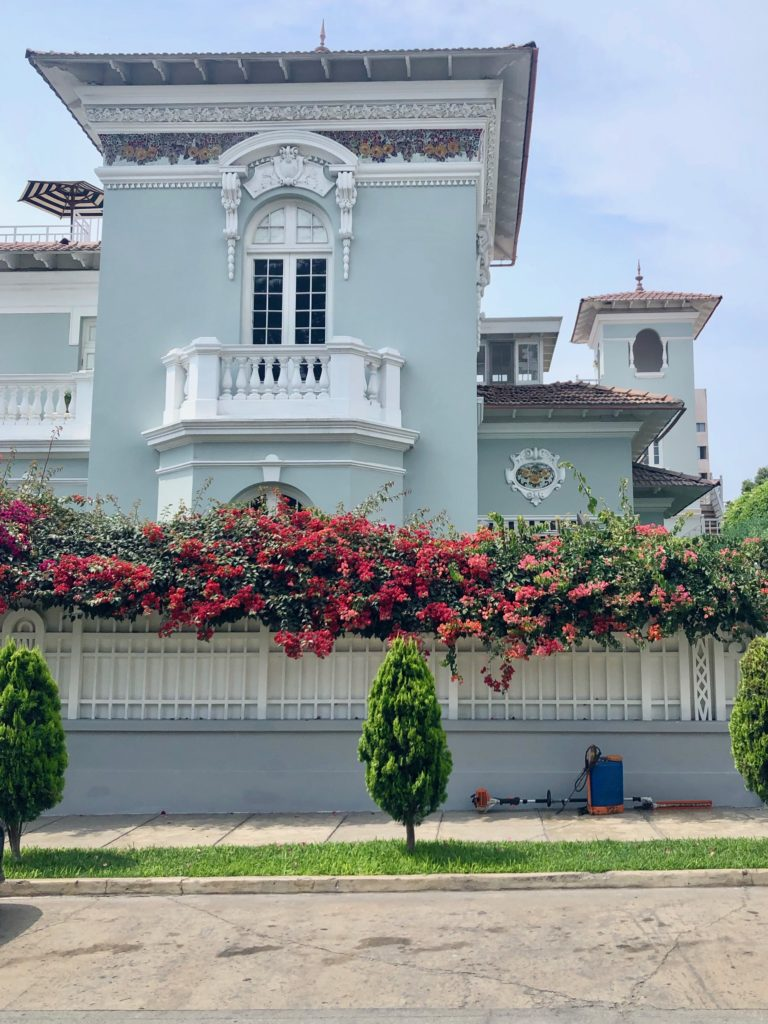 House front in Barranco, Lima