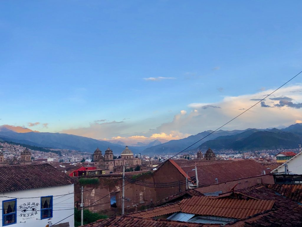 Cusco, view at the city centre